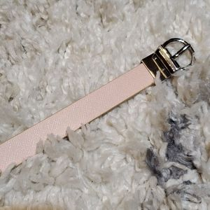 Baby Pink and Gold Reversable Belt